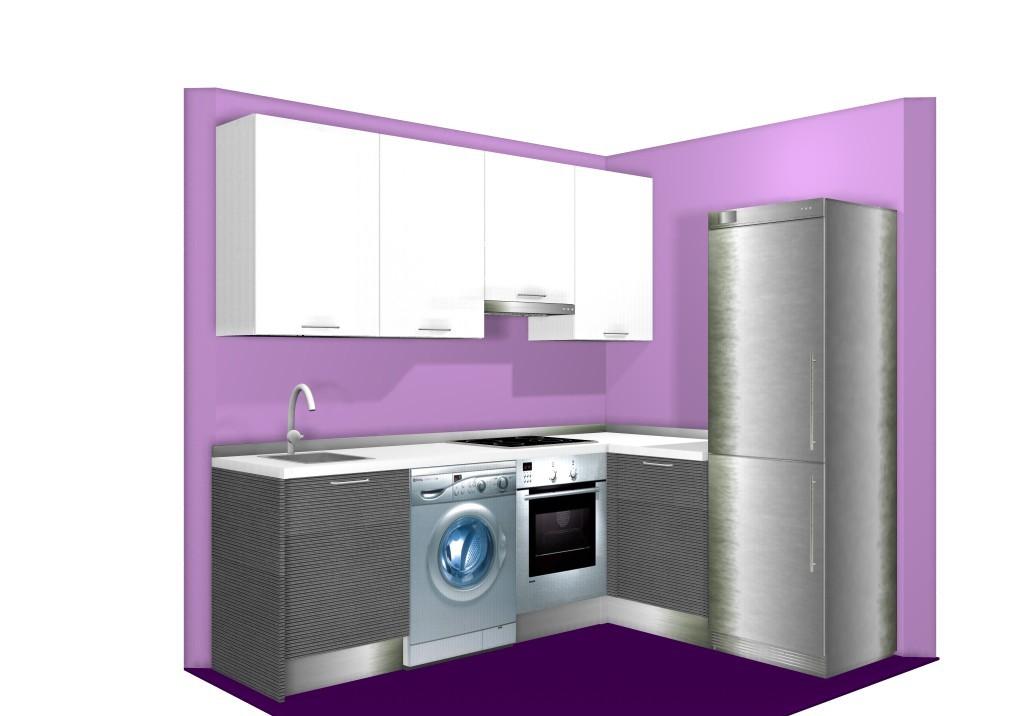 Cocinas en ele top hermosa cocina blanca en forma de - Cocinas pequenas en l ...