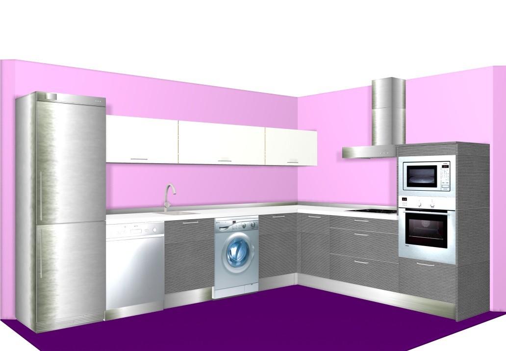 Diseños de cocinas grandes en L con rinconera - Eligetucocina